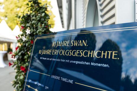 Die SWAN GmbH feiert in festlichem Rahmen ihr zehnjähriges Firmenjubiläum.