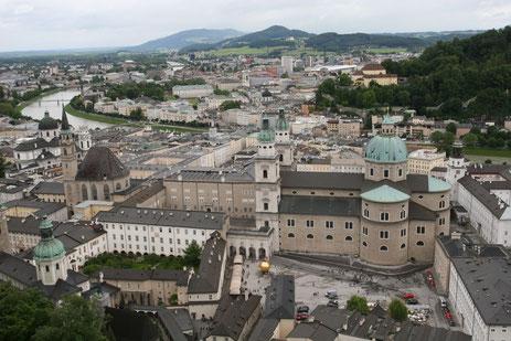 Salzburg von oben von der Festung Hohensalzburg aus