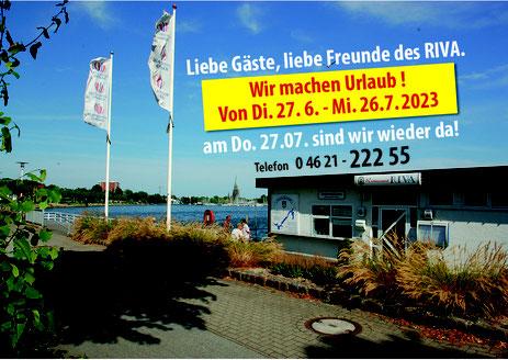 """Willkommen im RIVA - und auch die """"Wappen von Schleswig"""" startet ab Ostern zur 1. Schleitour."""