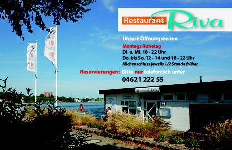 Willkommen im RIVA - Gottorfer Damm 1, direkt am Anleger der Schleischifffahrt !!