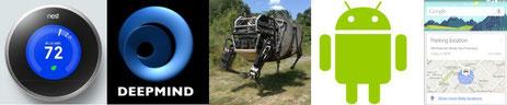 Nest, DeepMind, Boston Dynamics, Android, Google Now