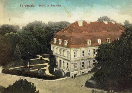 Schloss Straupitz um 1910.