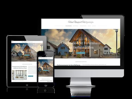 Haus Newport Heiligenhafen Homepage in responsivem Design