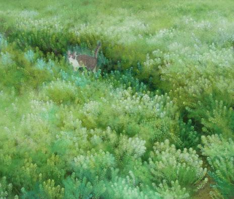 「いちめんに咲いて」油彩 F10