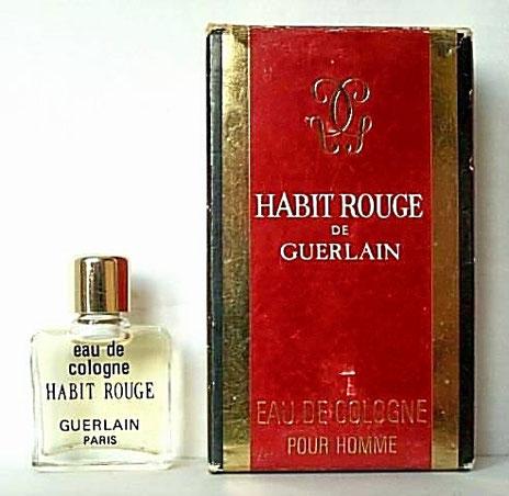 HABIT ROUGE - EAU DE COLOGNE POUR HOMME 4 ML - ANCIENNE PRESENTATION