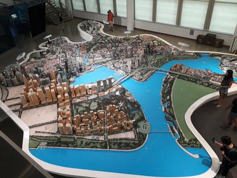 maquette de Singapour