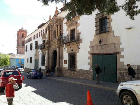 La façade de l'hôtel de la monnaie