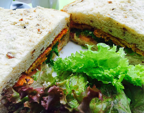 vegan blt sandwich from the almond tree