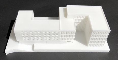 Modell im Maßstab 1:500 im SLS-Verfahren