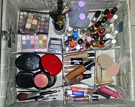 Organizador de maquillaje.