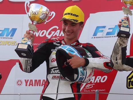 Hugo vainqueur de la Coupe de France Promosport 400 2017