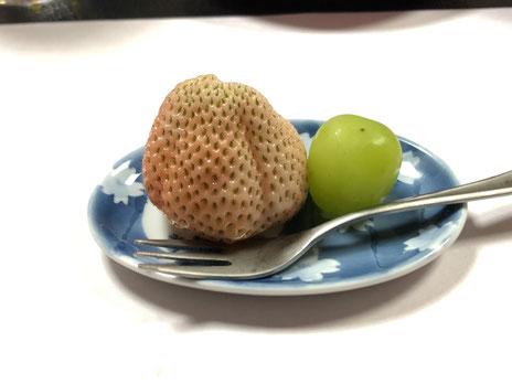 桃の味のする苺