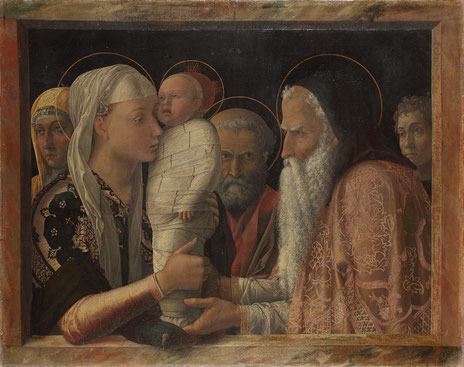 Andrea Mantegna, Darbringung im Tempel, 1465–1466 © Gemäldegalerie der Staatlichen Museen zu Berlin, Preußischer Kulturbesitz,  Photo: Jörg P. Anders