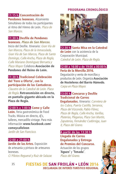 Programa de las Fiestas de San Froilán en León
