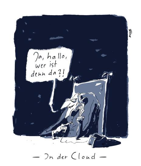 Cartoon von Mock zum Thema Soziale Medien