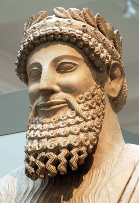 Colossal Limestone Statue of Bearded Man, Idalion 450BC, British Museum