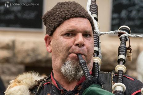 Dudelsackspieler beim Mittelalterstadtfest in Bad Langensalza