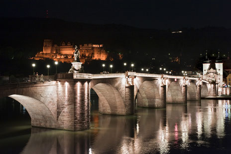 Old Bridge at Night (© Heidelberg Marketing GmbH / P. Rothe)