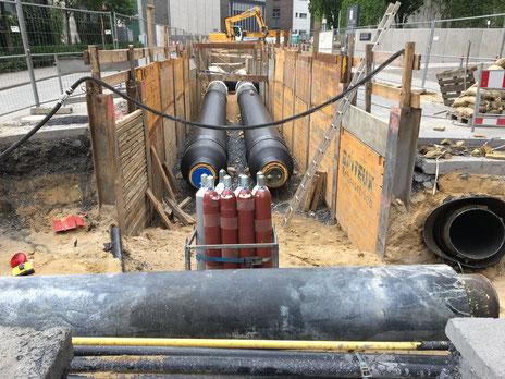 Rohrleitungen Verbau und Wasserhaltung