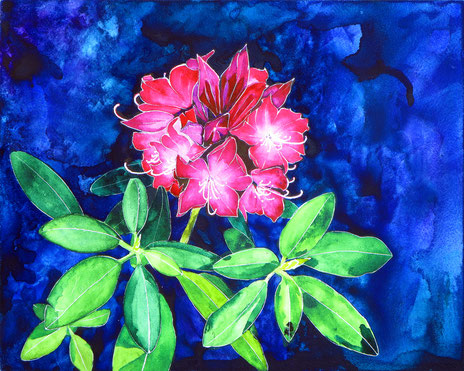 Rhododendron (KMA Artists on Location 2017) 10x8x2 © Hannah C. Weston SOLD