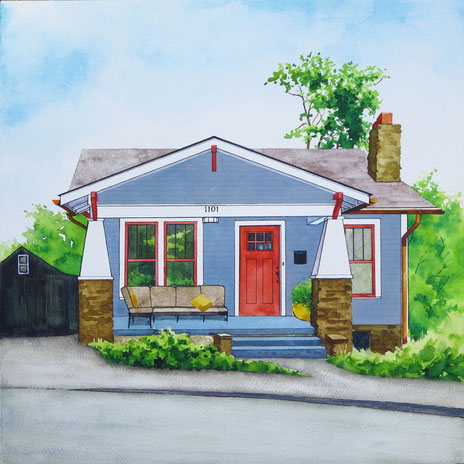 1101 Eleanor Street (KMA Artists on Location 2017) 12x12x2 © Hannah C. Weston