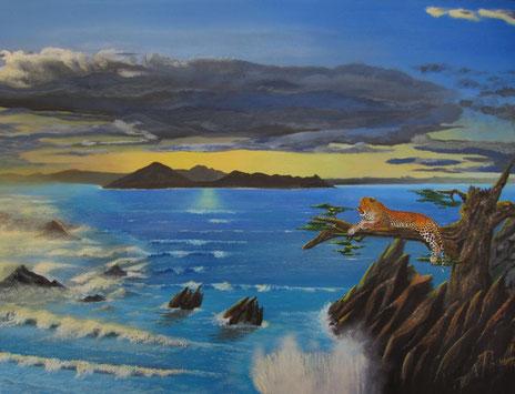 Ruhender Leopard