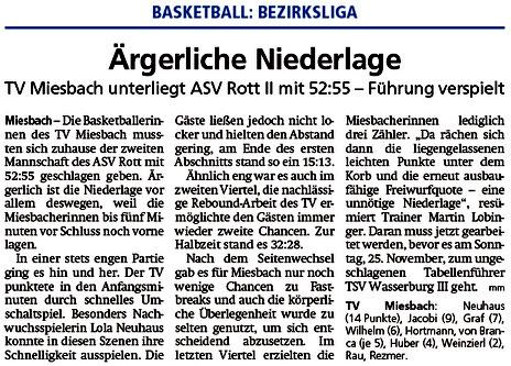 Bericht im Miesbacher Merkur am 13.11.2018 - Zum Vergrößern klicken
