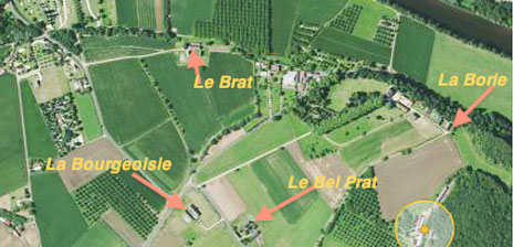 Locations vacances Périgord - Plan de situation des Maisons