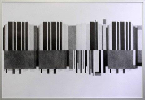 Altfranzösisches Lied, 2017, Bleistift auf Papier, 88 x 129 cm