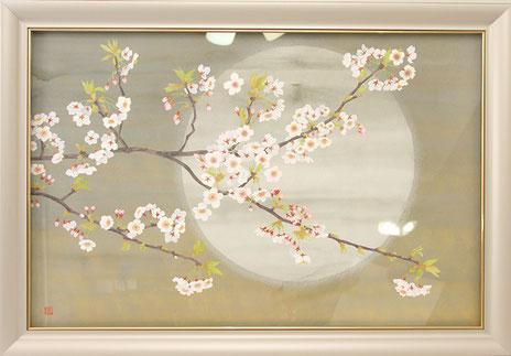 日本画 「桜」