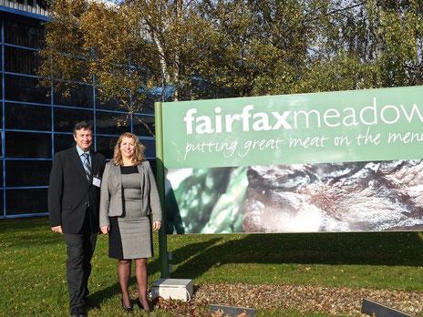 Personalmanagerin Yvonne Yates von Fairfax Meadow und Franz Josef Papenbrock, BSZW