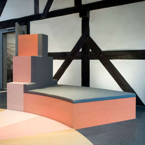 Interaktive Spielburg von formverleih, entworfen für das Museum 642 Pössneck