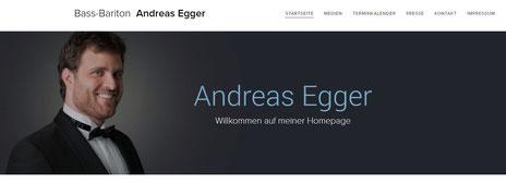 ANDREAS EGGER, Bassbariton  - WEBSEITE