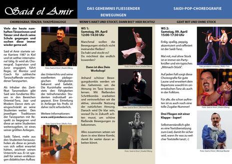 Orientalischer Tanz-Workshop mit Said el Amir am 09.04 - 10.04.2016