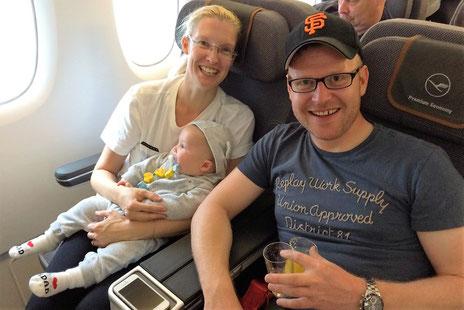 Im Lufthansa-A380-Flieger in der Premium Economy nach Houston
