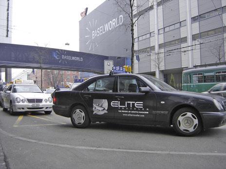 "Seitenplakat ""Elite Traveler"""