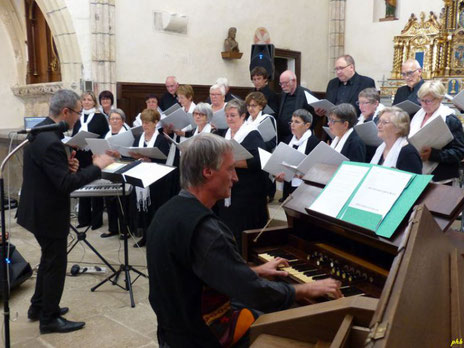 Musiques à l'harmonium, église d'Orliac-de-Bar, septembre 2018