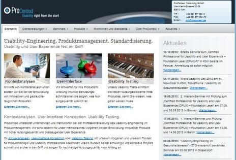 Vom Düsseldorfer Werbetexter Thomas Kadanik: Webseite ProContext