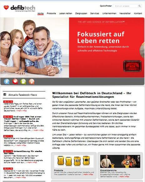 Vom Düsseldorfer Texter Thomas Kadanik: Webseite Defibtech