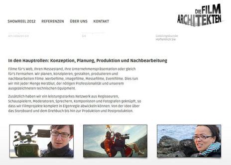 Vom Düsseldorfer Werbetexter Thomas Kadanik: Webseite Filmarchitekten