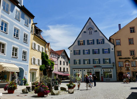 Städtereise Deutschland :Marktplatz von Füssen