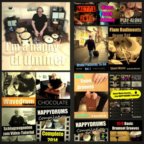 happydrums downloads - music, play-alongs, sheet music, noten, videos