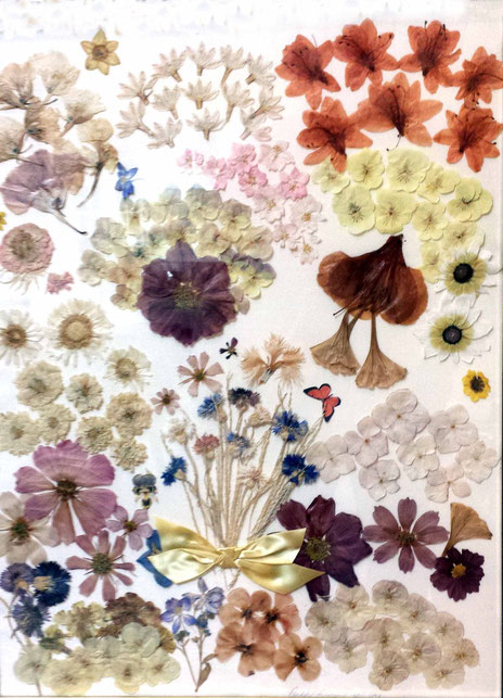 Collage of flowers by Ruth Rosen