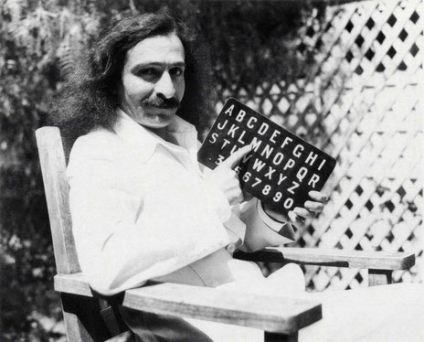 Meher Baba in Hollywood, CA. May-June 1932. Picture possibly taken at the Jones' garden.