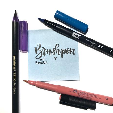 Brush Pens verschiedener Marken