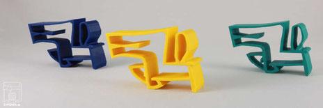 3D-Druck Produkte Kreationen chimaumau Farben