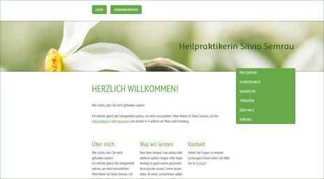 Webseite Heilpraktikerin Silvia Semrau