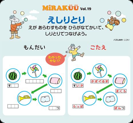 MiRAKUU vol.19「えしりとり」