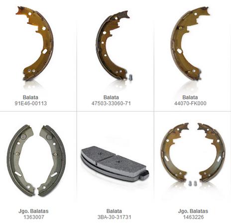 balatas frenos partes refacciones accesorios montacargas mexico