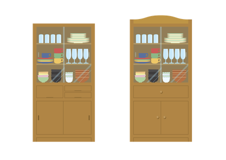 つくば市の不用な食器棚の家具処分
